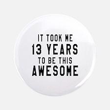 13 Years Birthday Designs Button