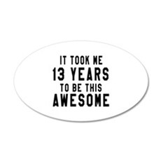 13 Years Birthday Designs Wall Decal