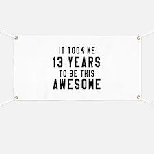 13 Years Birthday Designs Banner