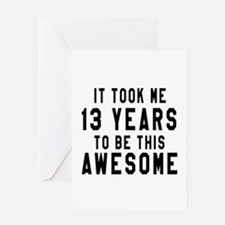 13 Years Birthday Designs Greeting Card