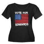 Vote for Edwards Women's Plus Size Scoop Neck Dark