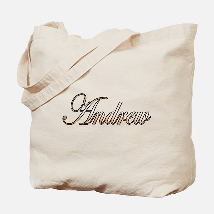 Gold Andrew Tote Bag
