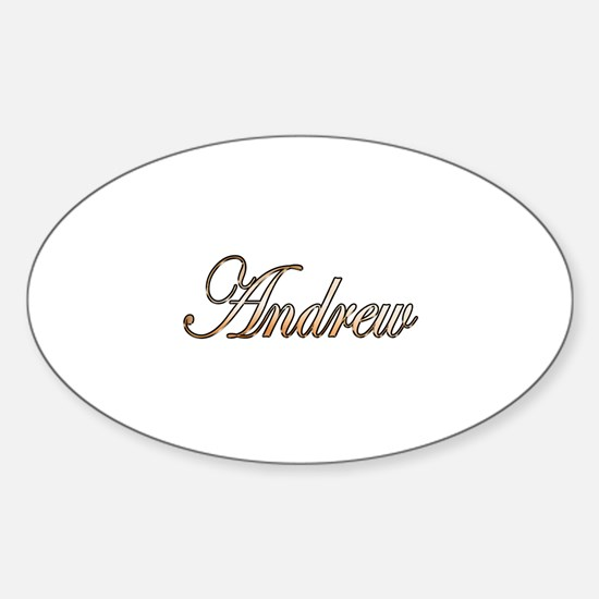 Gold Andrew Sticker (Oval)
