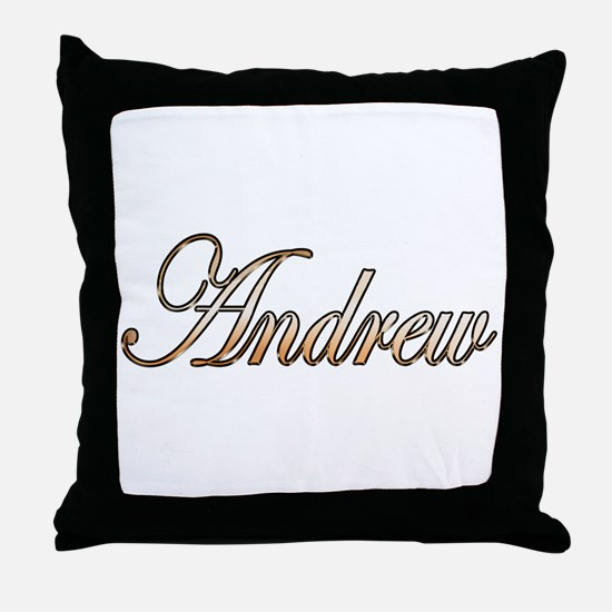 Gold Andrew Throw Pillow
