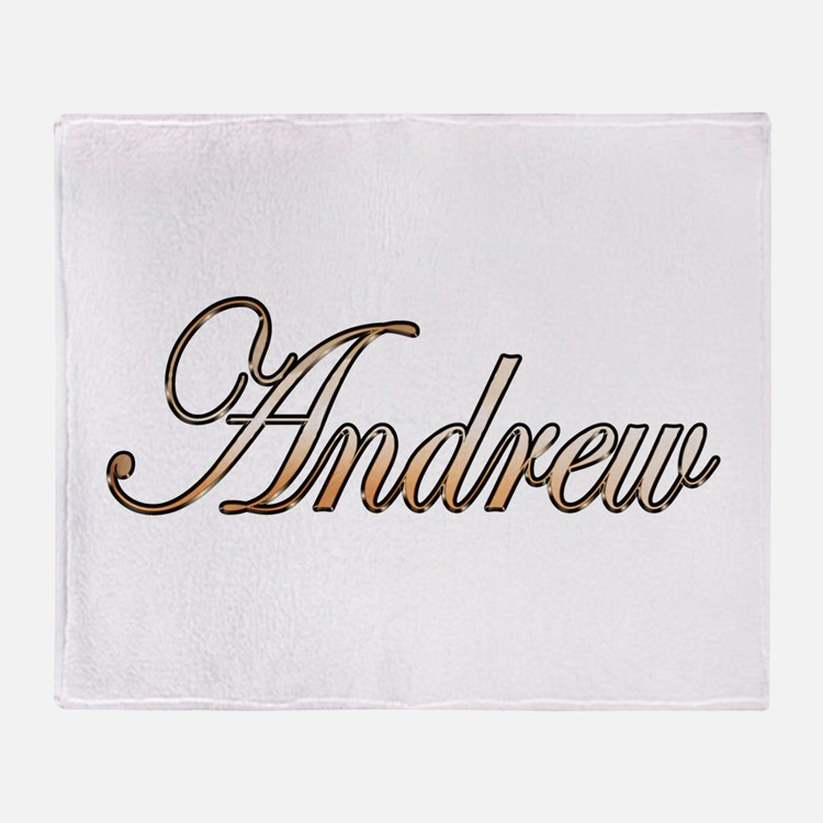 Gold Andrew Throw Blanket