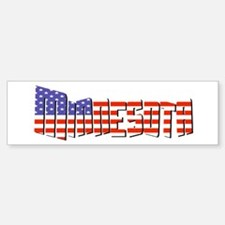 Patriotic Minnesota Bumper Bumper Bumper Sticker