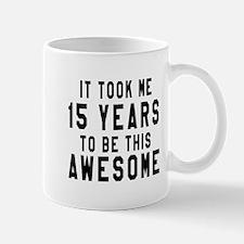 15 Years Birthday Designs Mug