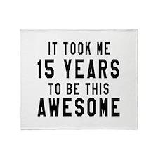 15 Years Birthday Designs Throw Blanket
