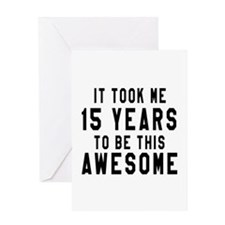 15 Years Birthday Designs Greeting Card