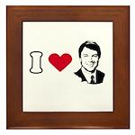 I Love John Edwards Framed Tile