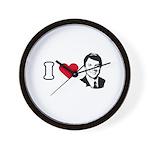 I Love John Edwards Wall Clock