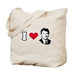 I Love John Edwards Tote Bag