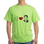 I Love John Edwards Green T-Shirt