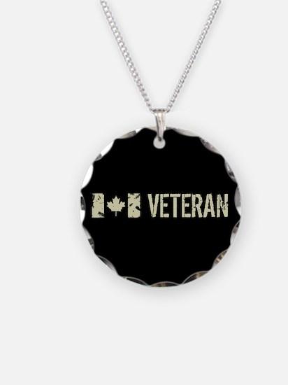 Canadian Flag: Veteran Necklace