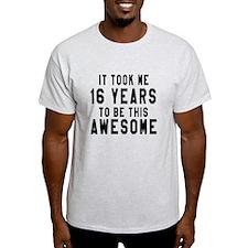 16 Years Birthday Designs T-Shirt