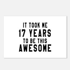 17 Years Birthday Designs Postcards (Package of 8)