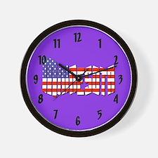 Patriotic Minnesota Wall Clock
