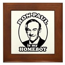 Ron Paul is my homeboy Framed Tile