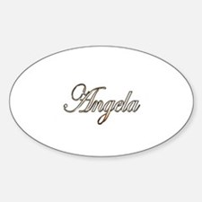 Gold Angela Decal