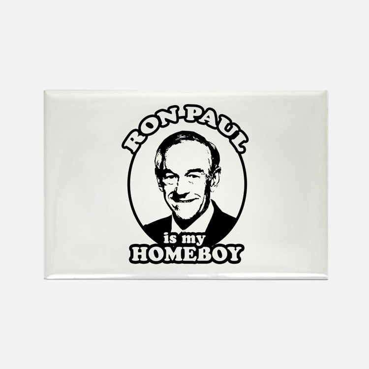 Ron Paul is my homeboy Rectangle Magnet (100 pack)