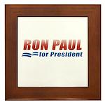 Ron Paul for President Framed Tile