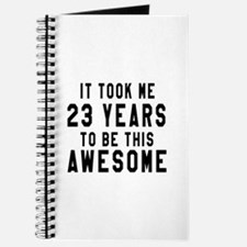 23 Years Birthday Designs Journal