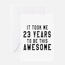23 Years Birthday Designs Greeting Card