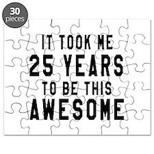 25 Years Birthday Designs Puzzle