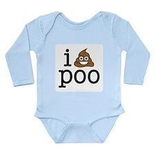 i love poo Body Suit