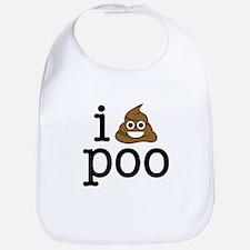 i love poo Bib