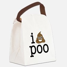 i love poo Canvas Lunch Bag