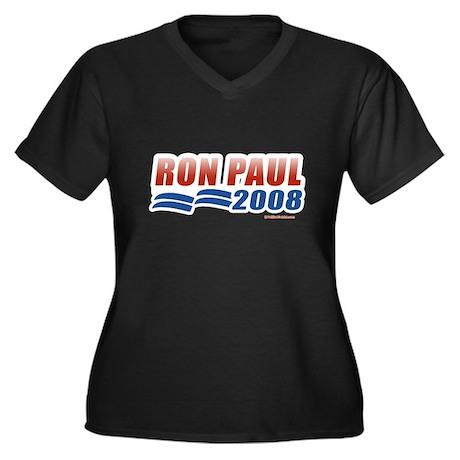 Ron Paul 2008 Women's Plus Size V-Neck Dark T-Shir