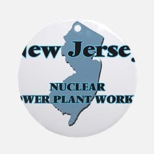New Jersey Nuclear Power Plant Work Round Ornament