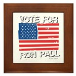 Vote for Ron Paul Framed Tile
