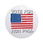 Vote for Ron Paul Ornament (Round)