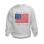 Vote for Ron Paul Kids Sweatshirt