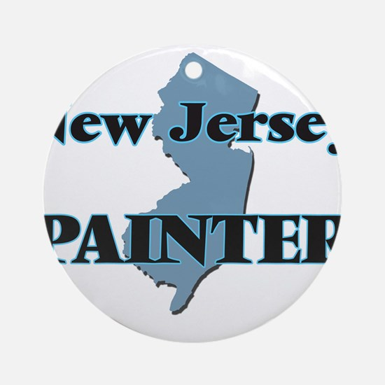 New Jersey Painter Round Ornament