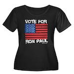 Vote for Ron Paul Women's Plus Size Scoop Neck Dar
