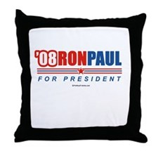 08 Ron Paul Throw Pillow
