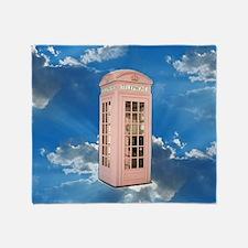 telephone booth Throw Blanket