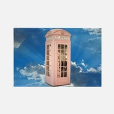 telephone booth Rectangle Magnet