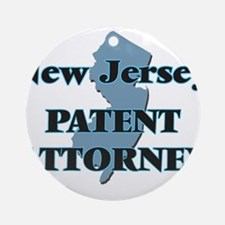 New Jersey Patent Attorney Round Ornament