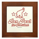 Ron Paul for President Framed Tile