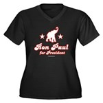 Ron Paul for President Women's Plus Size V-Neck Da