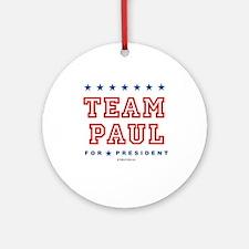 Team Paul Ornament (Round)