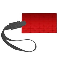 Red Christmas Decorative Pattern Luggage Tag