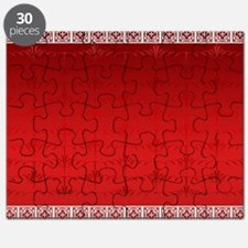 Red Christmas Decorative Pattern Puzzle