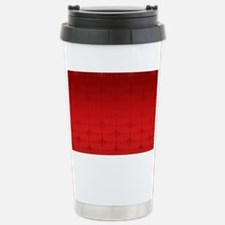 Red Christmas Decorativ Stainless Steel Travel Mug