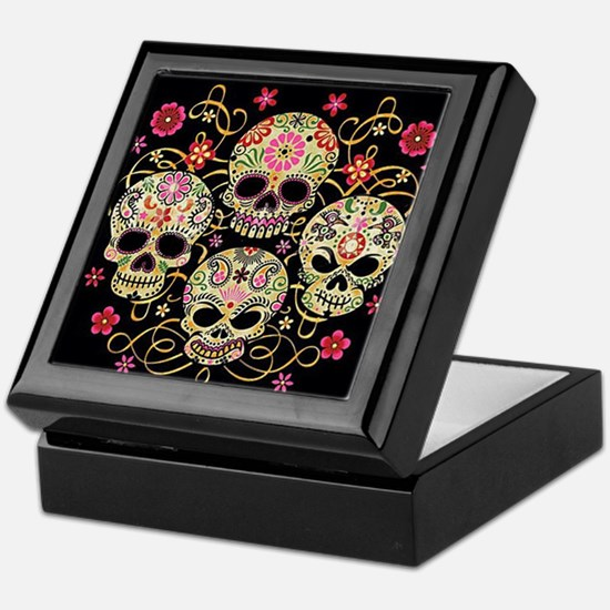 Sugar Skulls III Keepsake Box