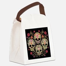 Sugar Skulls III Canvas Lunch Bag